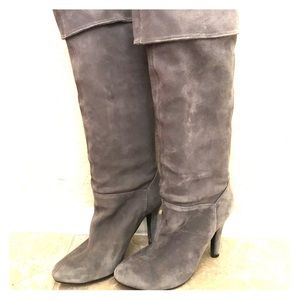 Beautiful Gray Suede Boots